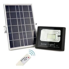 Refletor Led Holofote Placa Solar Bateria Completo 60w