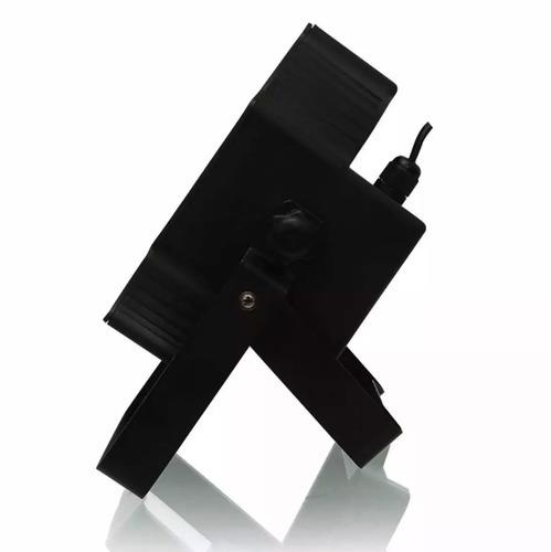refletor led par 64 rgb 18 leds de 1w digital strobo