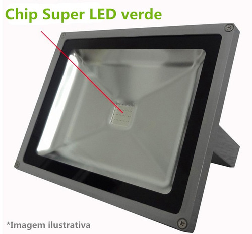 refletor led verde holofote 30w super led ip65 bivolt