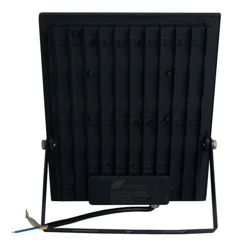 refletor microled rgb 100w bivolt ip66 c/controle promoção