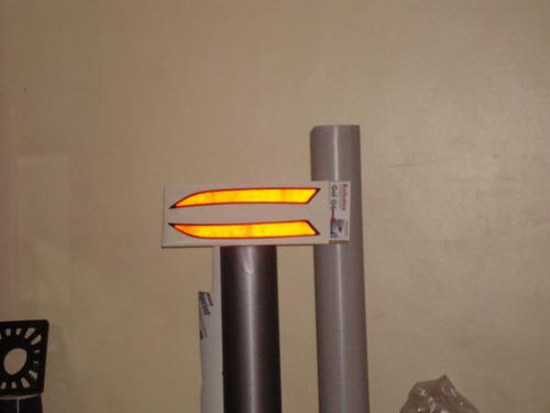 refletor olho de gato parachoque lanterna gol g5