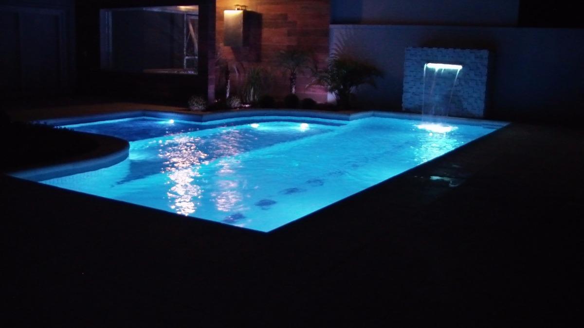Refletor piscina tholz power led rgb 9 0w inox r 449 00 for Led para piscinas