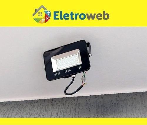 refletor super led ou micro led 30w ip66 branco frio bivolt