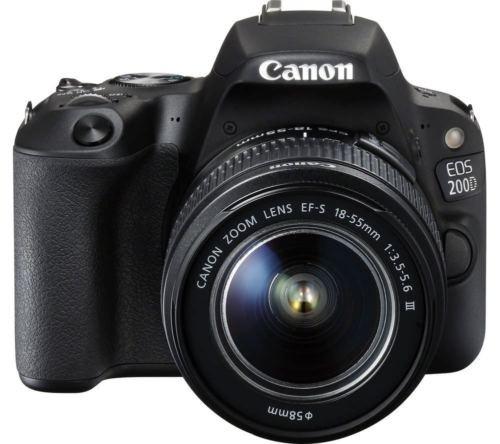 réflex digital canon eos 200d (sl2) + 18-55mm iii + flash +