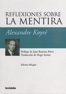 reflexiones sobre la mentira. koyré. filosofía (le)