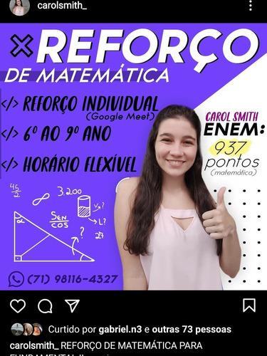 reforço escolar de matemática