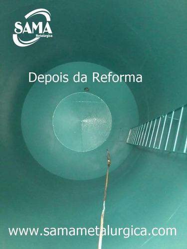 reforma de caixa d'água metálica