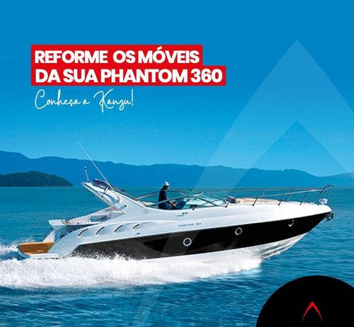 reforma de móveis nautica, lancha, phantom 360, phantom 500.