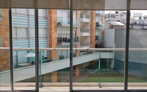 reforma social departamento terraza y vista al jardín