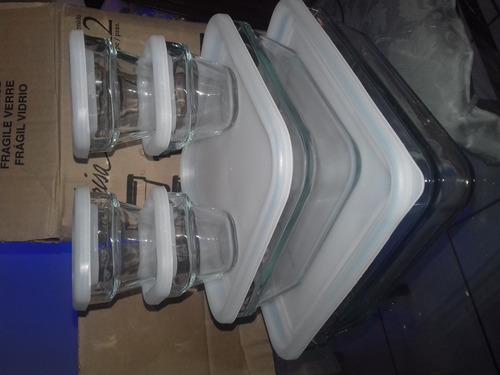 refractarios de vidrio con tapa marca crisa 10% de descuento