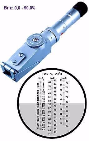 refractometro de 0 a 90 °brix