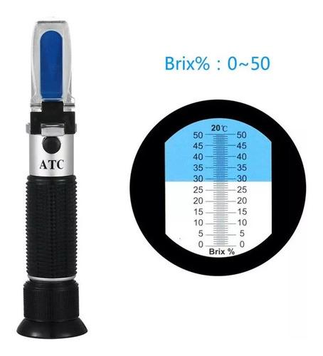 refractómetro de mano 0-50% brix+envio especial