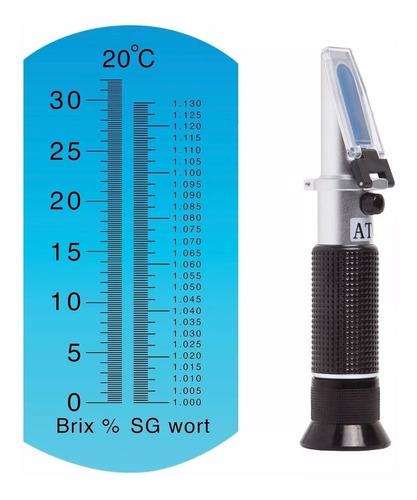 refractometro óptico cerveza jugos vino mosto 0-32 brix