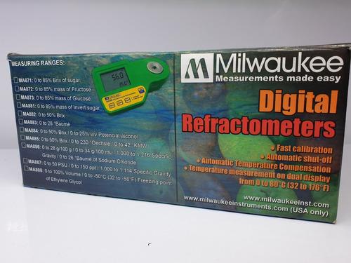 refractómetro salinidad digital milwaukee medidor acuario  m871 digital 0 - 85% brix 0 - 80ºc sacarosa