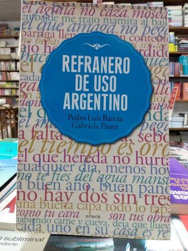 refranero de uso argentino