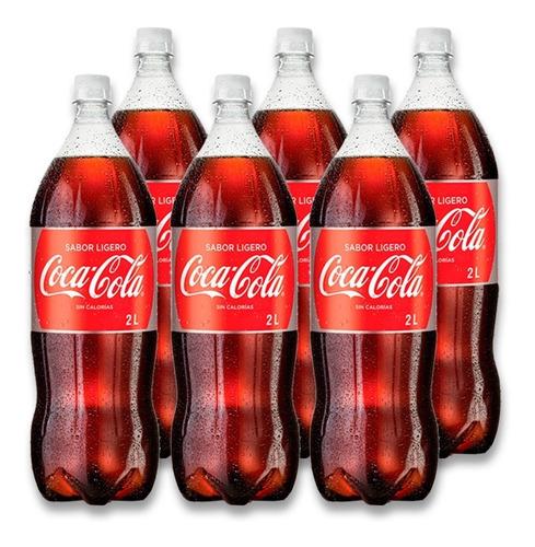 refresco coca - cola sabor ligero pet 2l 6 unidades.