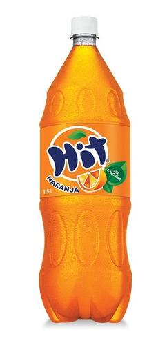 refresco hit naranja pet 1.5l 6 unidades.