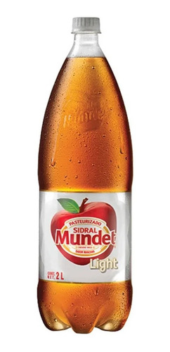 refresco sidral mundet light sabor manzana botella de 2 l