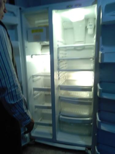 refrigerador 2 puertas ge congelador vert dispensador agua