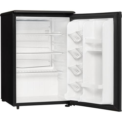 refrigerador compacto  2.6 pies cúbicos negro