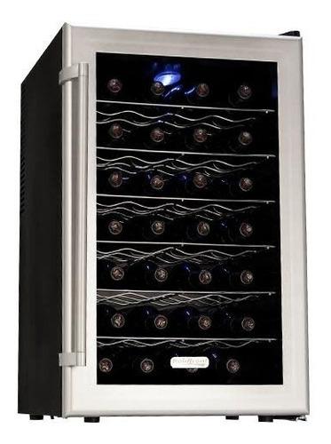 refrigerador de vino koldfront en  metal capacidad para 28