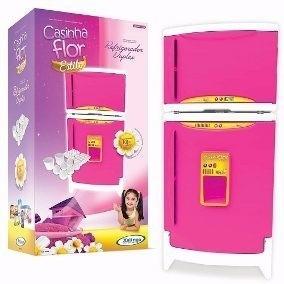 refrigerador duplex casinha flor