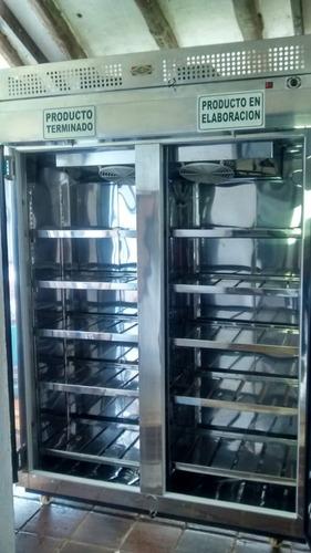refrigerador en acero inoxidable 12 bandejas internas