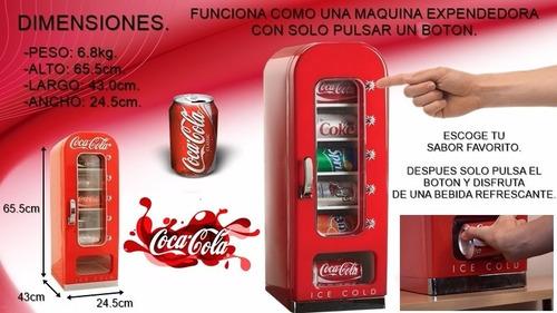 refrigerador expendedor coca cola retro,10 latas enviogratis