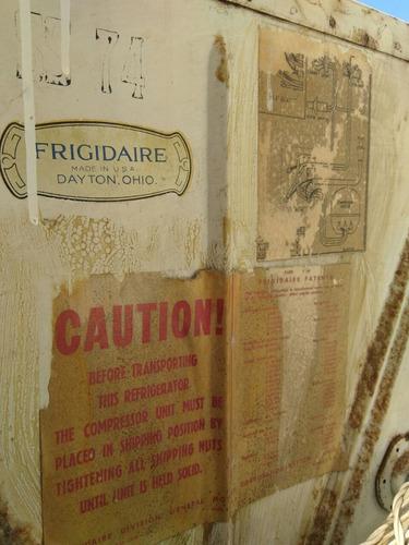 refrigerador frigidaire original con cubeteras originales
