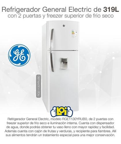 refrigerador ge 1130 319l freezer frío seco disp de agua loi