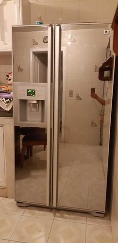 refrigerador lg. grande doble puerta espejo