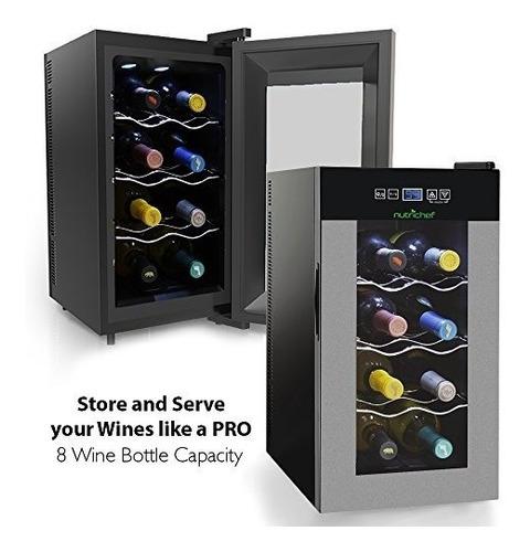 refrigerador para vinos con control de temperatura, 8 botell
