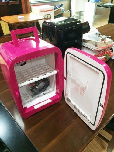 refrigerador portable dc / ac 110v, 15l, rosa - importado