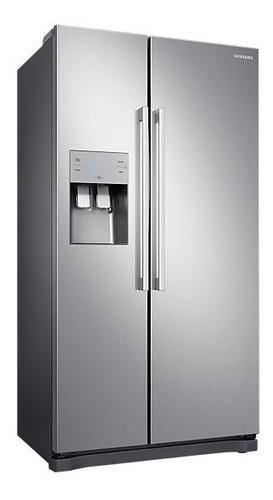 refrigerador samsung side by side rs50n3503s8/pe sbs silver