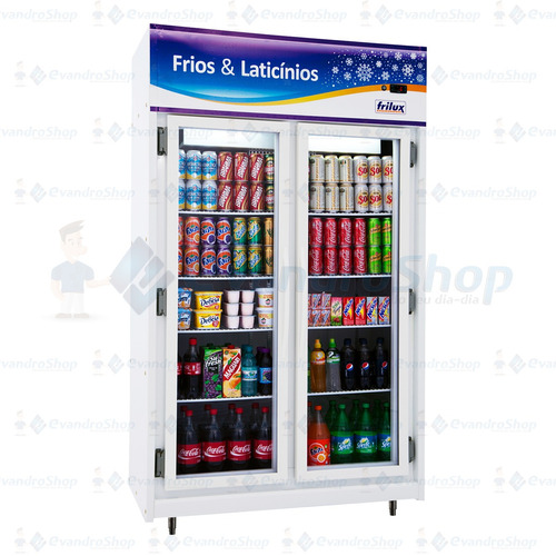 refrigerador vertical expositor para bebidas 2 portas