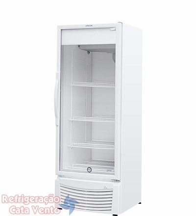 refrigerador vertical porta vidro fricon 402l vcfm402 - 110v