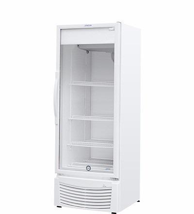 refrigerador vertical porta vidro fricon 402l vcfm402 - 220v