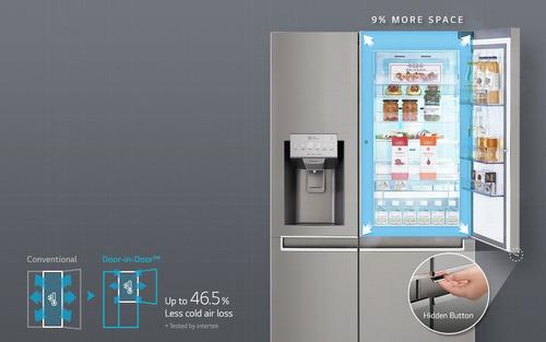 refrigeradora lg 601 litros side by side door in 3 puertas