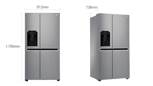 refrigeradora lg side 21p gs65spp1 ice maker side by side
