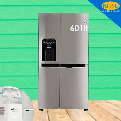 refrigeradora lg side by side gs65spp1 nf disp inverter cr