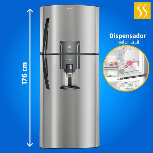 refrigeradora mabe inox no frost 400 lt dispensador garantia