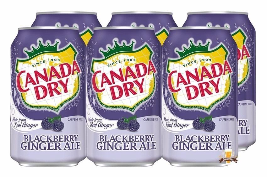 Refrigerante Canada Dry Blackberry Ginger Ale Caixa 06 Latas R 89