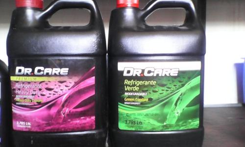 refrigerante dr. care rosado y verde
