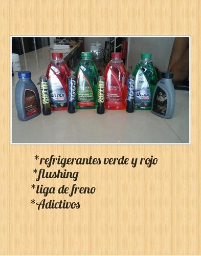refrigerantes, liga de freno, flushing y aditivos