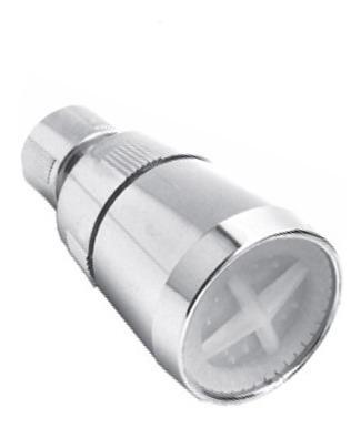regadera cabeza accesorio baño cromo 809 metalflu