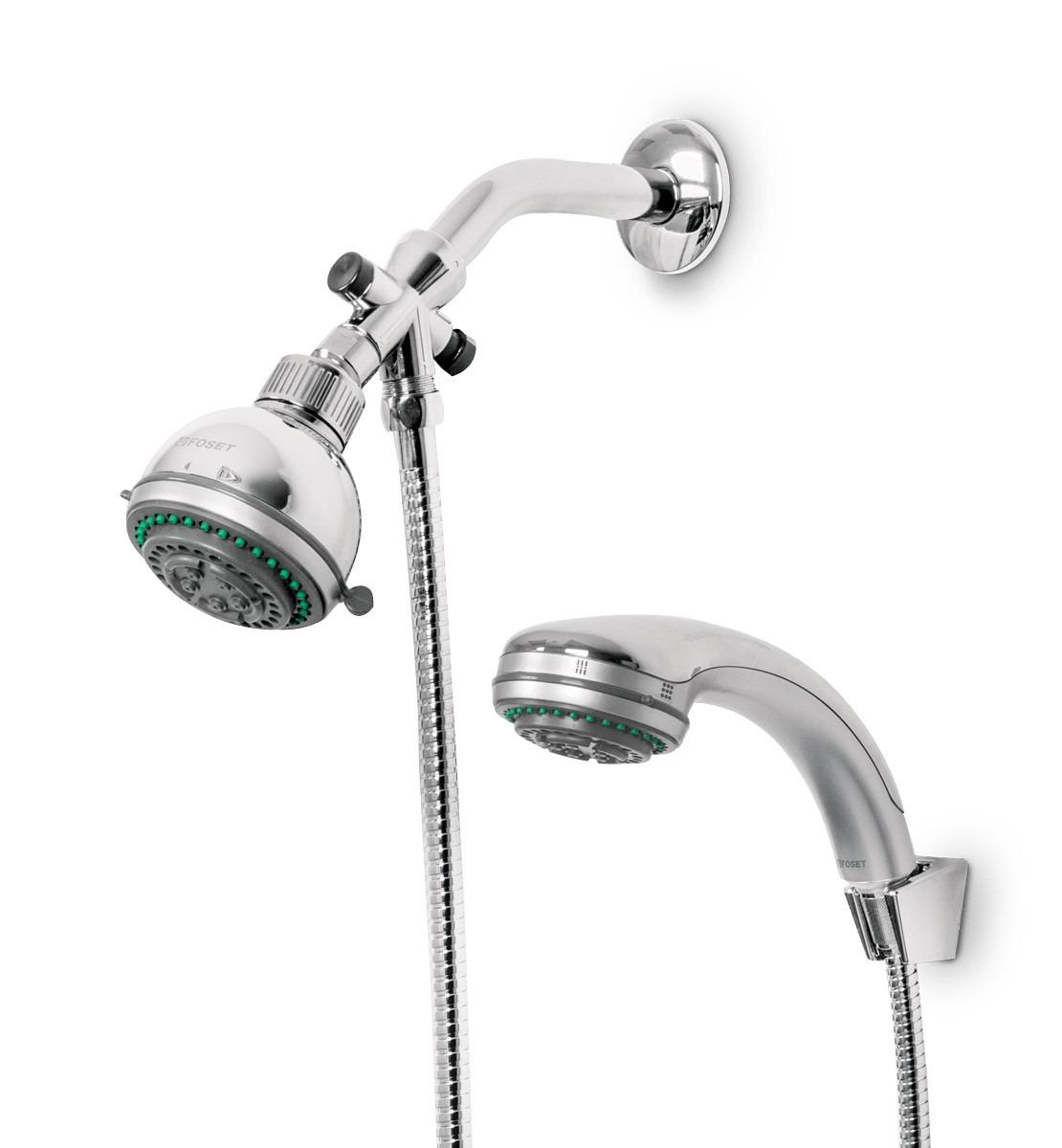 Regadera con extension tipo telefono 5 funciones foset for Llaves mezcladoras para lavabo urrea
