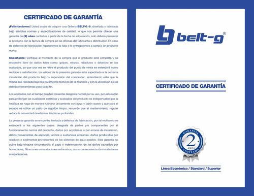 regadera cromo masaje 5 funciones mod ( l ) belt-g gri-1844
