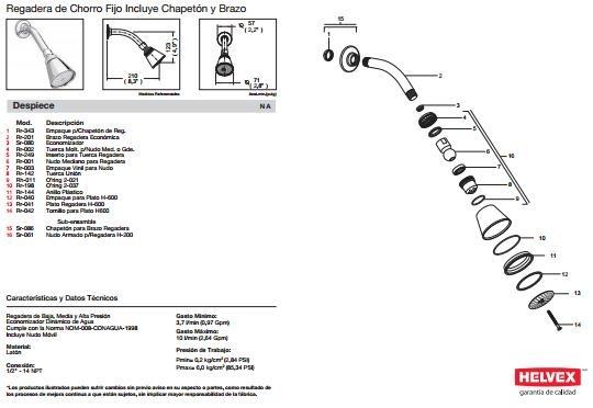 Griferia Para Baño Mercado Libre: De Baño Helvex Mod H – 200 Sp0 – $ 1,05100 en Mercado Libre