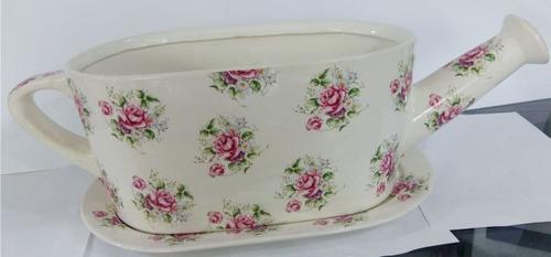 regadera de jardin base ceramica italiana adorno maceta envi