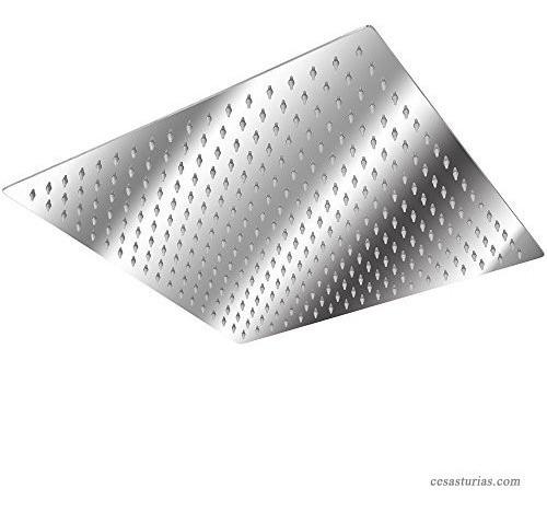 regadera ducha acero ultra slim 12 pulgadas cuadrada